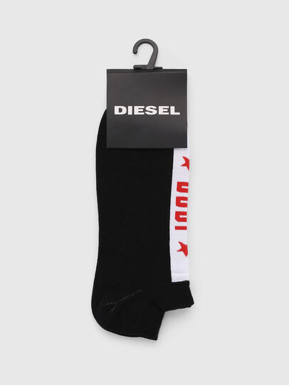 Diesel - SKM-GOST, Black - Low-cut socks - Image 2