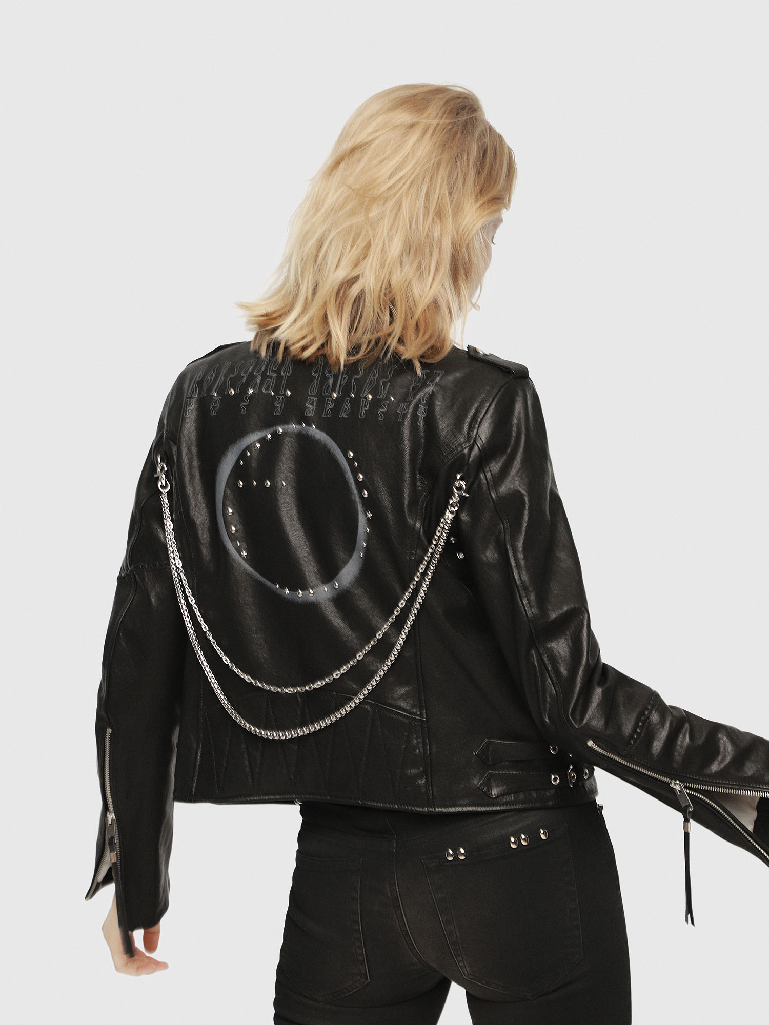 Diesel - SE-LENE,  - Leather jackets - Image 2