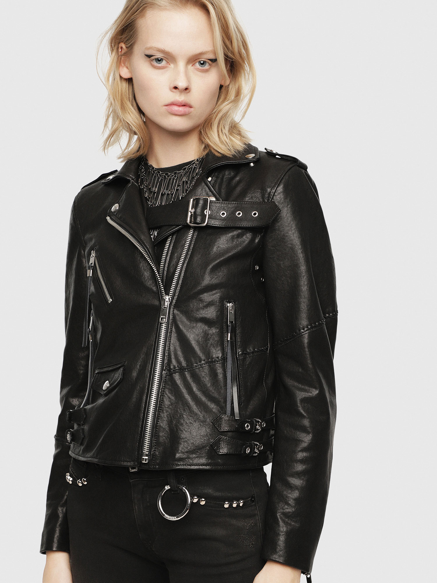 Diesel - SE-LENE,  - Leather jackets - Image 1